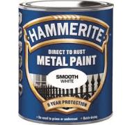 Hammerite glat hvid 750 ml
