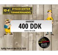 10-4 gavekort kr. 400,-