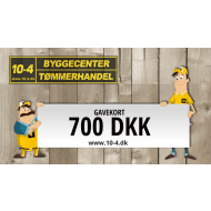 10-4 gavekort kr. 700,-