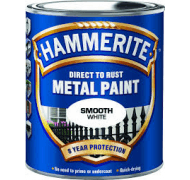 Hammerite glat hvid 250ml