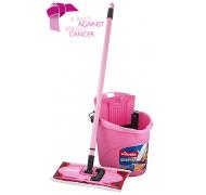 Vileda fladmoppe+spand pink