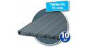 Plastmo Twinlite røgfarvet 16x980x3000mm