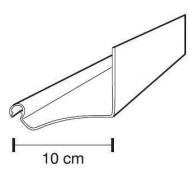 Fastlock uni vinkelplade hvid