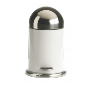 Galzone pedalspand stål hvid