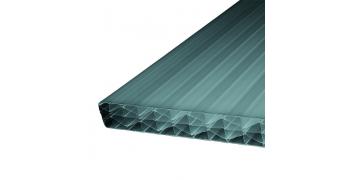 Plastmo Twinlite røgfarvet 32x1190mm