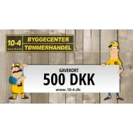 10-4 gavekort kr. 500,-
