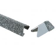 Isola trekantliste stål sort