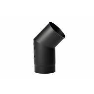 Varde pejserør 45° knæk sort