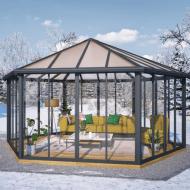 Garda havepavillon grå