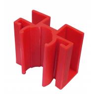 Jumbo fodlistebeslag rød