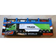 Trucksæt med 4 racerbiler
