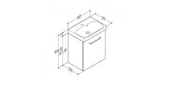 Møbelpakke med uno marmorvask og låger