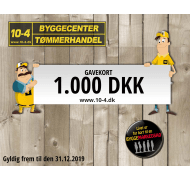 10-4 gavekort kr. 1000,-