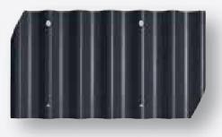 Cembrit B7 bølgeplade sortblå i fibercement - Bestil i dag