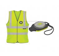 Unilite sikkerhedsvest lys gul