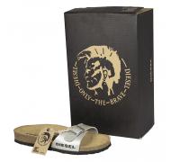 Diesel sandal mat sølv