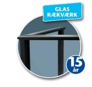 Plastmo glasrækværk klar glas