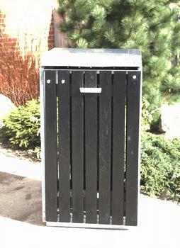Klassisk affaldsstativ - Brovst Universal miljøstativ B96 sort